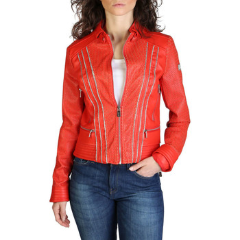 Abbigliamento Donna Giacca in cuoio / simil cuoio Yes Zee - j406_g100 Rosso