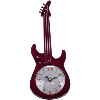 Casa Orologi Signes Grimalt Tabletop Clock Chitarra Rojo
