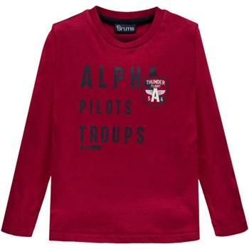 Abbigliamento Unisex bambino T-shirts a maniche lunghe Brums ATRMPN-27701 Rosso
