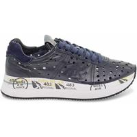 Scarpe Donna Sneakers basse Premiata Sneakers  CONNY in pelle e camoscio blu blu
