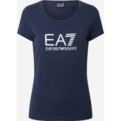 Abbigliamento Donna T-shirt maniche corte Ea7 Emporio Armani 8NTT63 Blu