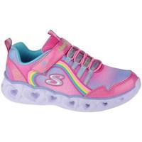 Scarpe Bambina Fitness / Training Skechers Heart Lights Rainbow Lux Rosa