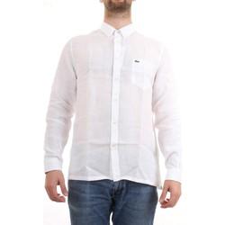 Abbigliamento Uomo Camicie maniche corte Lacoste CH4990 00 Camicia Uomo Bianco