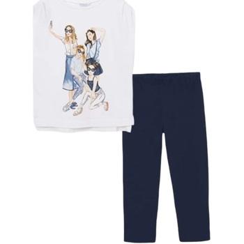 Abbigliamento Bambina Completo Mayoral ATRMPN-27808 Bianco