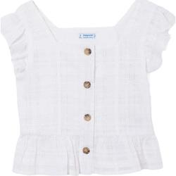 Abbigliamento Bambina Top / T-shirt senza maniche Mayoral ATRMPN-27809 Bianco