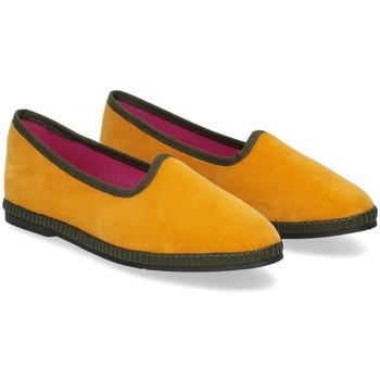 Scarpe Donna Pantofole Le Babe Slipon friulane velluto giallo verde GIALLO