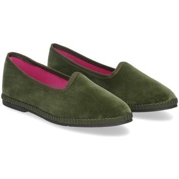 Scarpe Donna Pantofole Le Babe Slipon friulane velluto verde VERDE