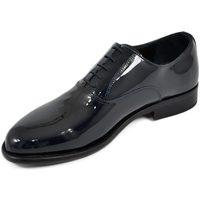 Scarpe Uomo Richelieu Malu Shoes Scarpe uomo stringate classiche 019 vernice blu scuro made in i BLU