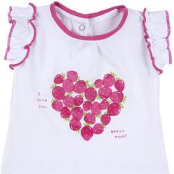 Abbigliamento Bambina T-shirt maniche corte Chicco 09067088000000 Bianco