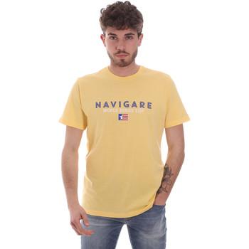 Abbigliamento Uomo T-shirt maniche corte Navigare NV31139 Giallo
