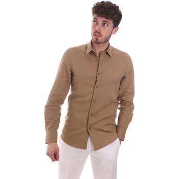 Abbigliamento Uomo Camicie maniche lunghe Antony Morato MMSL00628 FA400074 Beige
