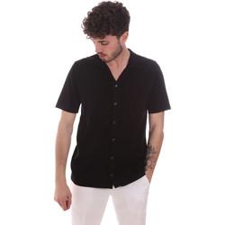 Abbigliamento Uomo Camicie maniche corte Antony Morato MMSW01183 YA100063 Nero