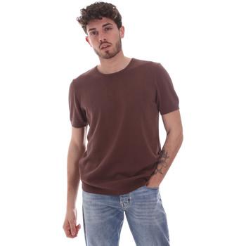 Abbigliamento Uomo T-shirt maniche corte Gaudi 111GU53004 Marrone