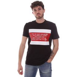 Abbigliamento Uomo T-shirt maniche corte Gaudi 111GU64071 Nero