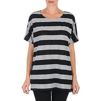 Abbigliamento Donna T-shirt maniche corte Vero Moda CHELLA 2/4 LONG TOP KM Grigio / Nero