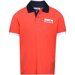 Abbigliamento Unisex bambino Polo maniche corte Diadora 102175907 Rosso