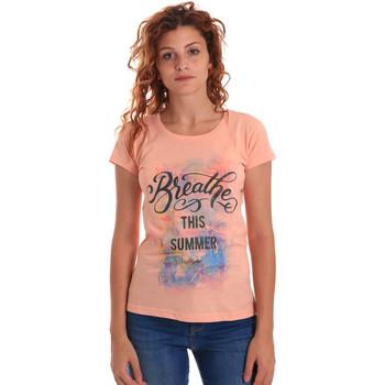 Abbigliamento Donna T-shirt maniche corte Key Up 5D59S 0001 Arancio