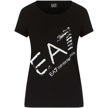 Abbigliamento Donna T-shirt maniche corte Ea7 Emporio Armani 3KTT28 TJ12Z Nero