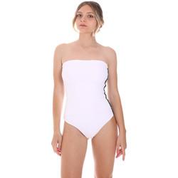 Abbigliamento Donna Costume intero F * * K  Bianco