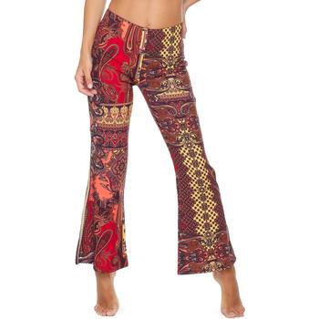 Abbigliamento Donna Pantaloni morbidi / Pantaloni alla zuava F * * K  Rosso