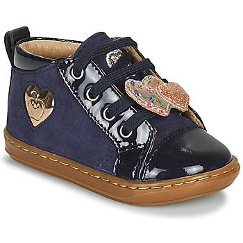 Scarpe Bambina Sneakers alte Shoo Pom BOUBA HEART Blu
