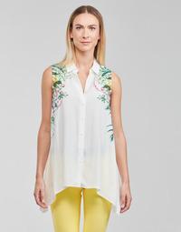 Abbigliamento Donna Top / Blusa Desigual FILADELFIA Bianco / Verde
