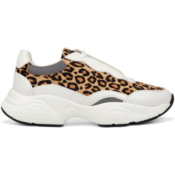 Scarpe Donna Sneakers basse Ed Hardy - Insert runner-wild white/leopard Bianco