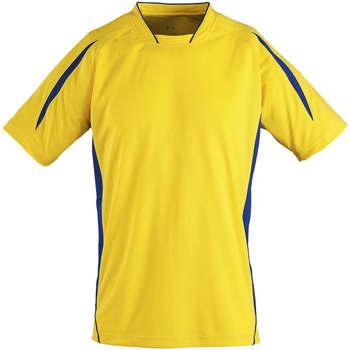 Abbigliamento Unisex bambino T-shirt maniche corte Sols Maracana - CAMISETA NIÑO MANGA CORTA Amarillo