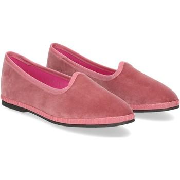 Scarpe Donna Pantofole Le Babe Slipon friulane velluto rosa ROSA