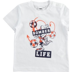 Abbigliamento Bambino T-shirt maniche corte Ido 42041 Bianco