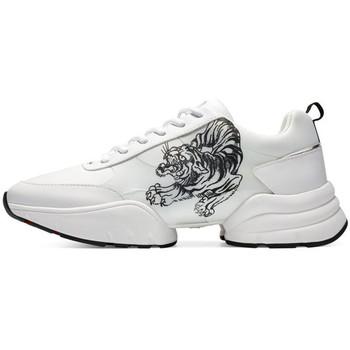 Scarpe Uomo Sneakers basse Ed Hardy - Caged runner tiger white-black Bianco