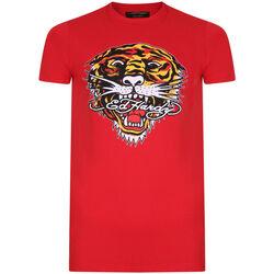 Abbigliamento Uomo T-shirt maniche corte Ed Hardy - Tiger mouth graphic t-shirt red Rosso