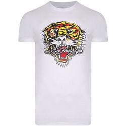 Abbigliamento Uomo T-shirt maniche corte Ed Hardy - Tiger mouth graphic t-shirt white Bianco