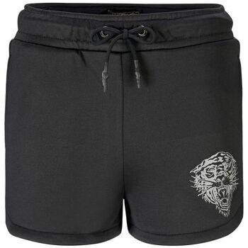 Abbigliamento Donna Shorts / Bermuda Ed Hardy - Tiger glow runner short black Nero