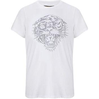 Abbigliamento Uomo T-shirt maniche corte Ed Hardy - Tiger-glow t-shirt white Bianco