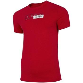 Abbigliamento Uomo T-shirt maniche corte 4F TSM021 Rosso