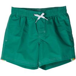 Abbigliamento Bambino Costume / Bermuda da spiaggia Sundek BOXER 504 ARCOBALENO RAGAZZO verde (579EMERALD)