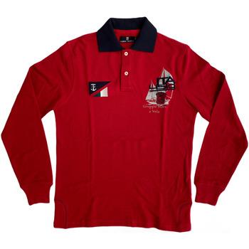 Abbigliamento Uomo Polo maniche lunghe Marina Militare ATRMPN-27970 Rosso