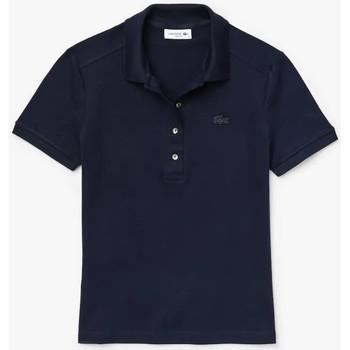 Abbigliamento Donna Polo maniche corte Lacoste Polo Best Donna Blu Blu