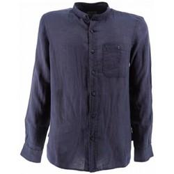 Abbigliamento Uomo Camicie maniche lunghe Woolrich Camicia Band Collar Uomo Blu Blu