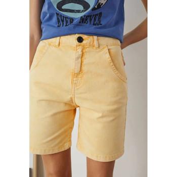 Abbigliamento Donna Shorts / Bermuda Leon & Harper Pantaloncini Quatty Donna Gialli Giallo