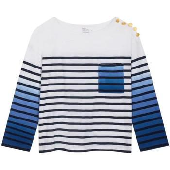 Abbigliamento Donna T-shirts a maniche lunghe Leon & Harper T-shirt Thill Donna Blu Blu