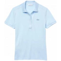 Abbigliamento Donna Polo maniche corte Lacoste Polo Slim Donna Azzurro Blu