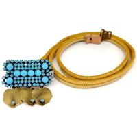 Accessori Donna Cinture Exquisite J Cintura CN289C Donna Gialla Giallo