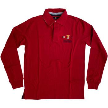 Abbigliamento Uomo Polo maniche lunghe Marina Militare ATRMPN-27975 Rosso