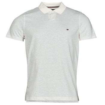Abbigliamento Uomo Polo maniche corte Tommy Hilfiger LINEN JERSEY SLIM PO, AF2 Bianco