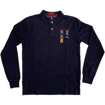 Abbigliamento Uomo Polo maniche lunghe Marina Militare ATRMPN-27980 Blu
