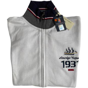 Abbigliamento Uomo Felpe Marina Militare ATRMPN-27984 Bianco