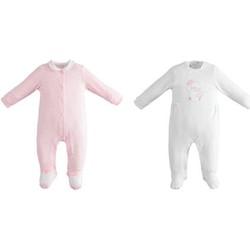 Abbigliamento Bambina Completo Ido 42152 Bianco/rosa