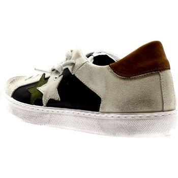 Scarpe Uomo Sneakers basse 2*star NERO/GHIACCIO LEATHER Multicolore